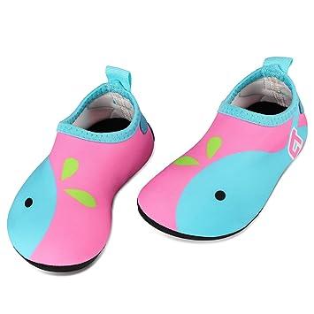 Tagvo Zapatos de Agua Baby Girl Girl, Zapatos de natación de Calcetines Aqua Swim Calzados Descalzos para Piscina de Playa: Amazon.es: Deportes y aire libre