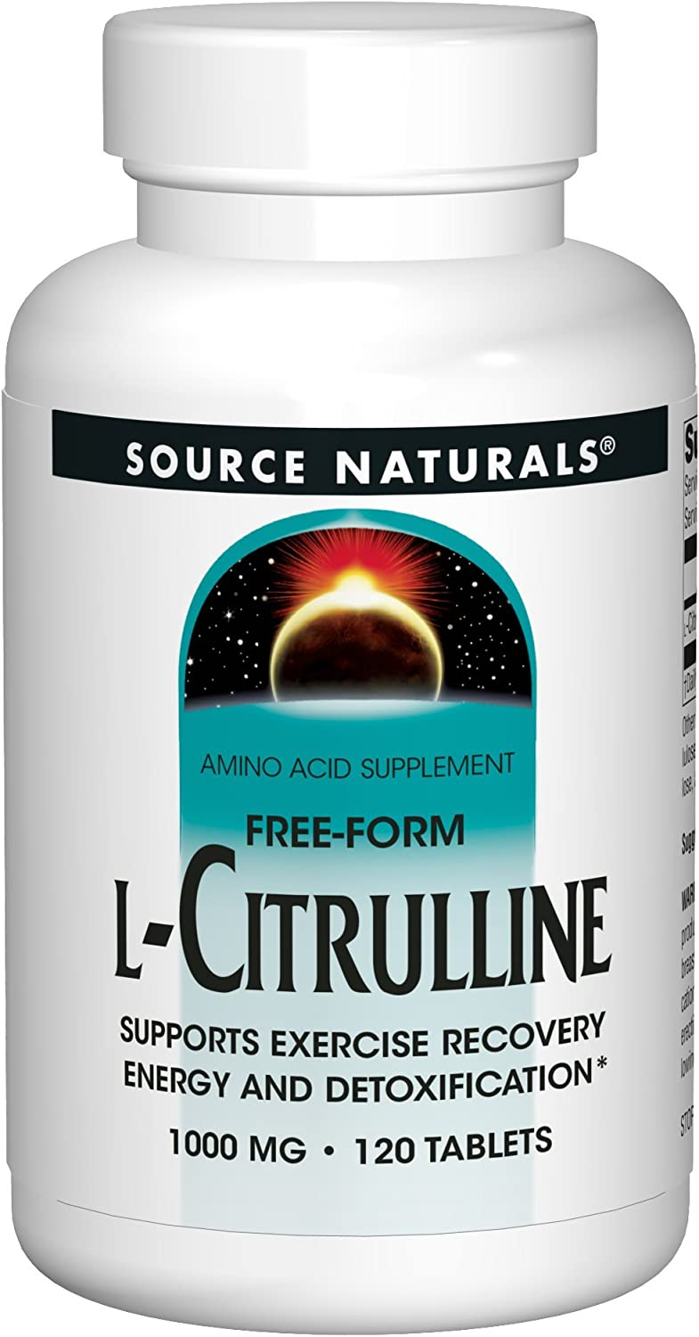 Source Naturals L-Citrulline 1000mg - Nitric Oxcide Booster - 120 Capsules: Health & Personal Care