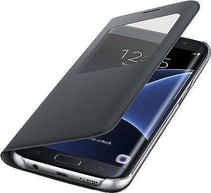 Samsung S View Cover - Funda para Samsung Galaxy S7 Edge, color Negro: Amazon.es: Electrónica