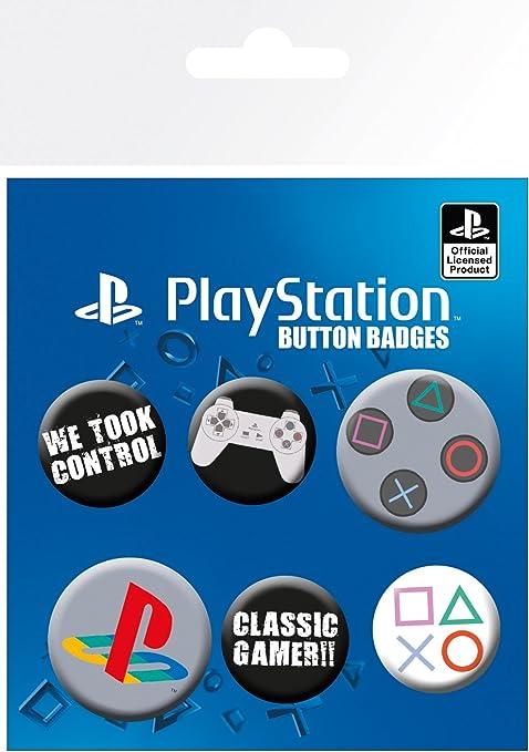 GB Eye LTD, Playstation, Clasica, Pack de Chapas: Amazon.es: Hogar