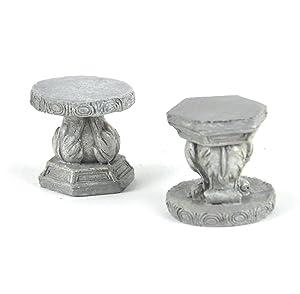 Fairy Stone Garden Stools - Fiddlehead Fairy Garden Collection
