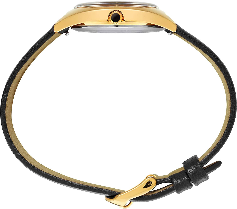 Timex Women's Milano 33mm Watch Black/Gold-Tone