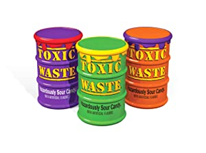 Toxic Waste - Special Edition Color Drums, 5 Assorted Flavors and new Mystery Flavor, 1.7oz - 3 pack