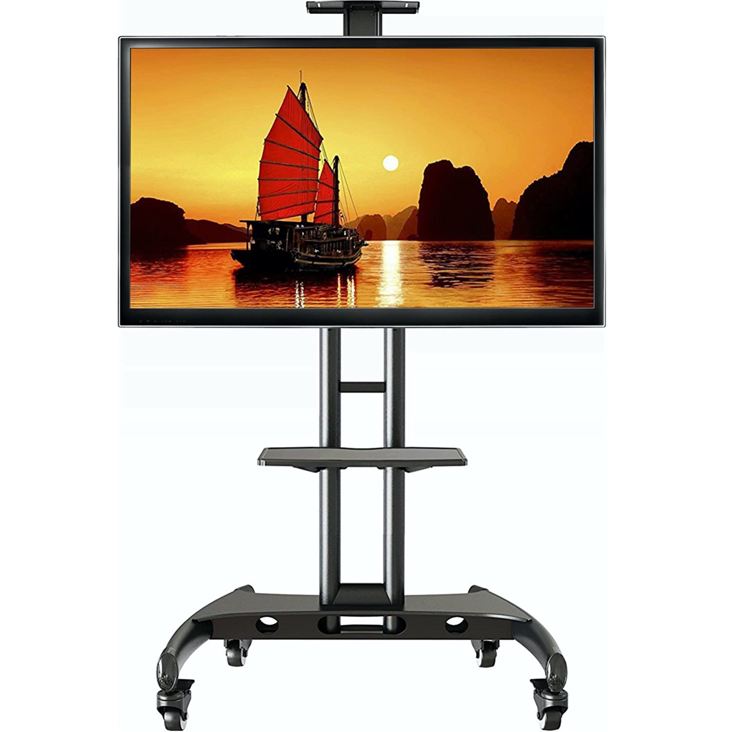 North Bayou Universal Mobile TV Cart TV Stand with Mount for LED LCD Plasma  Flat Panel Screens and Displays 32 To 65 Inch Up To. AV Carts   AV Stands   Amazon com   Office Furniture   Lighting