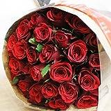 [エルフルール] ベストセラー1位獲得 赤バラの花束 30本 カラー:レッド 結婚記念日 プレゼント 薔薇 誕生日祝い 贈り物 クリスマス プロポーズ