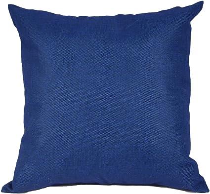 Cuscini Blu.Kate Blu Navy Tinta Unita Fodera Per Cuscino Decorativo In Cotone