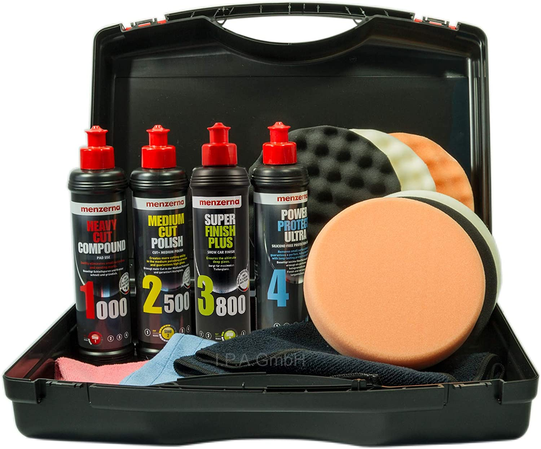Menzerna Polierset Aufbereitung Mit Politur Und Versiegelung Im Koffer 1000 2500 3800 Ppu Auto