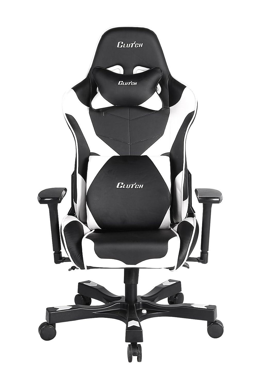 Superb Clutch Chairz Crank Series Echo Cke11Bw Gaming Chair Black Beatyapartments Chair Design Images Beatyapartmentscom