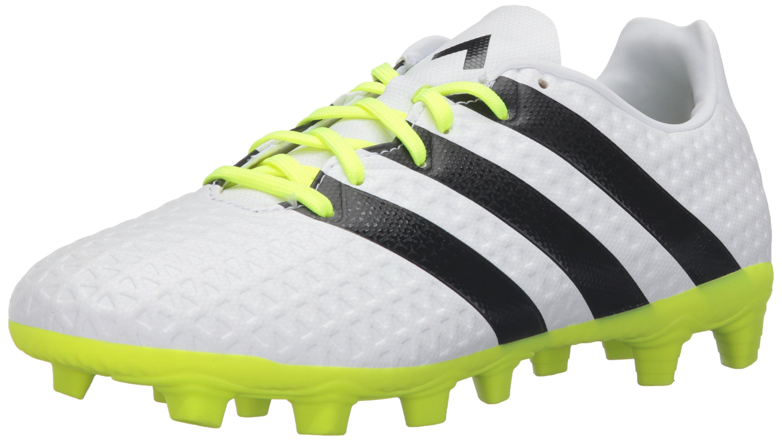 adidas Performance Women\u0027s Ace 16.4 FxG W Soccer Shoe, White/Black /Electricity,