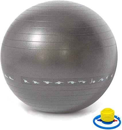 TechFit - Pelota de Ejercicio (65 cm, Incluye Bomba, Fitness ...