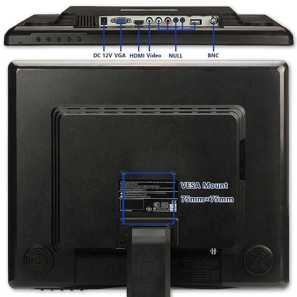 116 Inch Portable Monitor Tpekka 1366 X 768 Hd Tft Lcd Security Hdmi Av Bnc