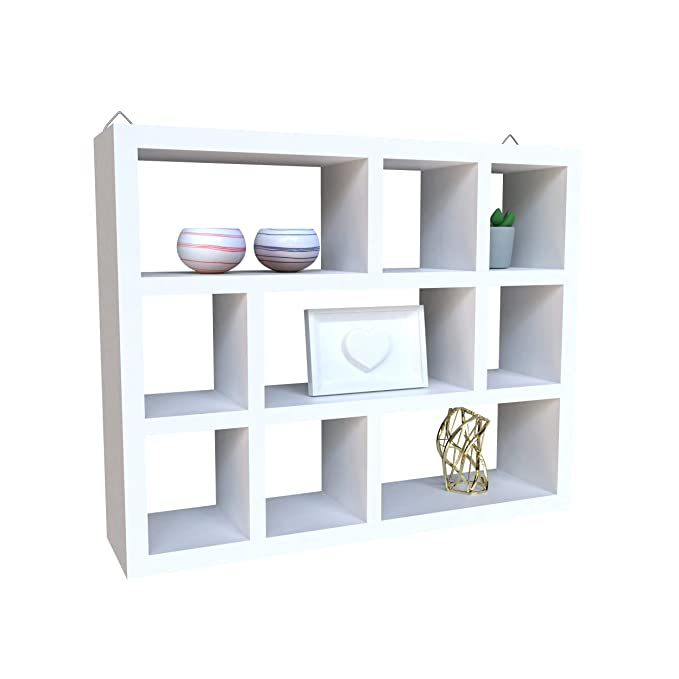 LxWxH Floating Wall Home Decor Shelves; 3 Tier Corner Cube Wall Mounted Hanging Book Shelf Decor for Bedroom and Living Room; 16.6 x 2.8 x 11.9 Inches ; Gray