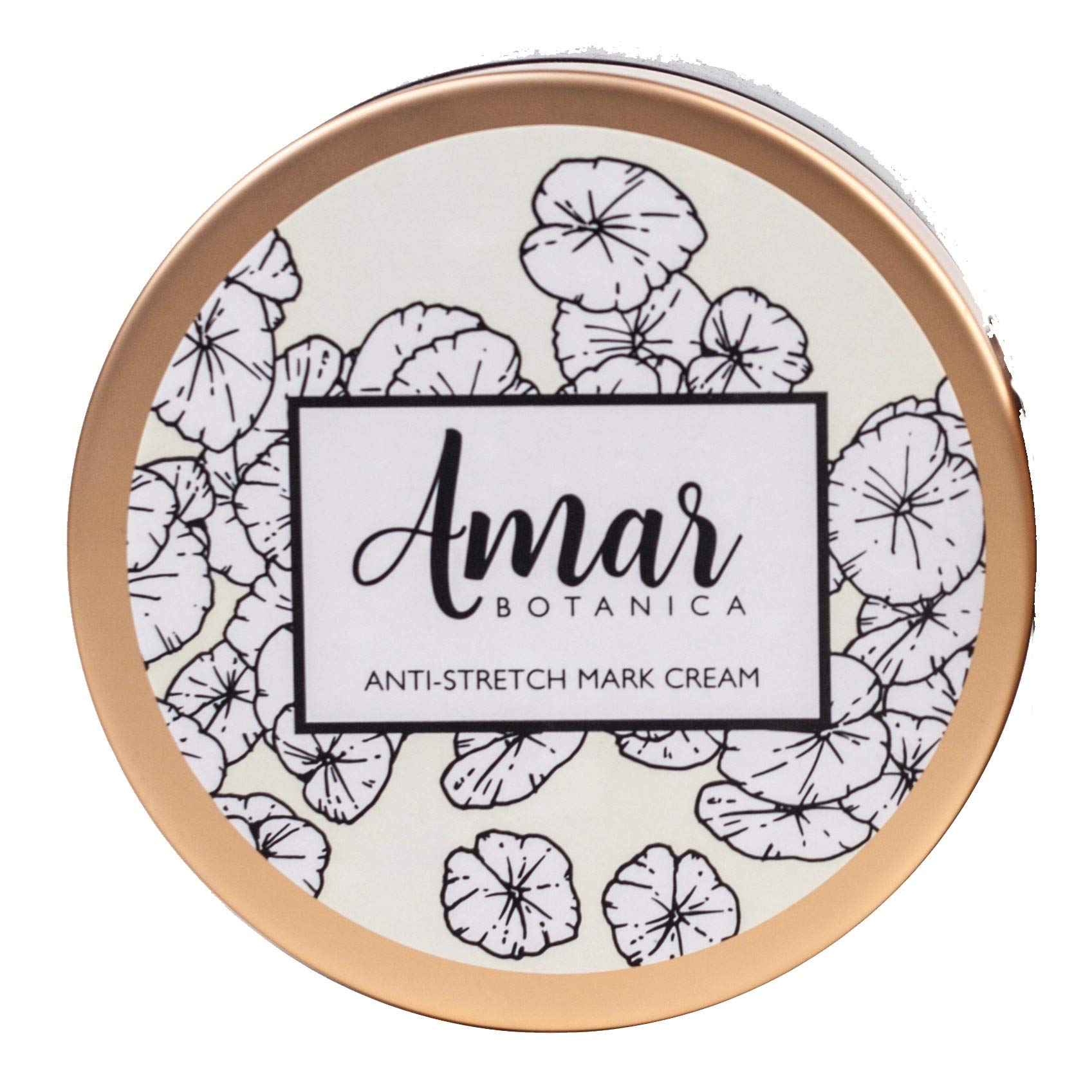Pregnancy Stretch Marks Prevention and Removal Cream | OBGYN Recommended Amar Botanica | 100% Safe for Unborn Baby and Mommy | Vegan, Paraben-Free, Organic Formulation 8oz by Amar Botanica