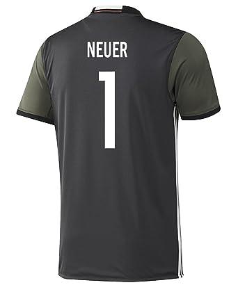newest 85ff0 1c80c Amazon.com: Adidas Neuer #1 Germany Away Soccer Jersey Euro ...
