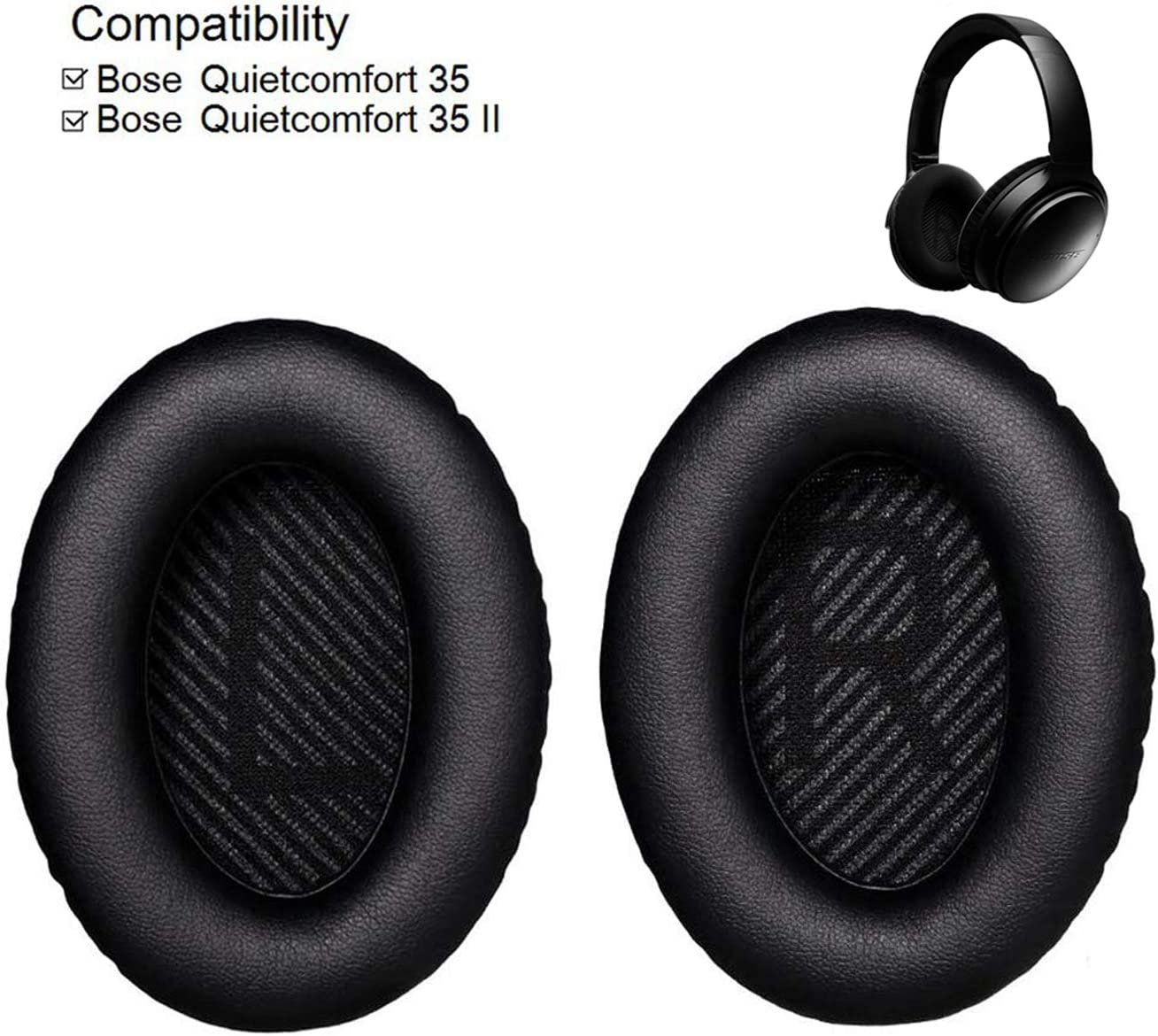 Replacement Ear Pads Ear Cushion for Bose QuietComfort QC35 Headphones