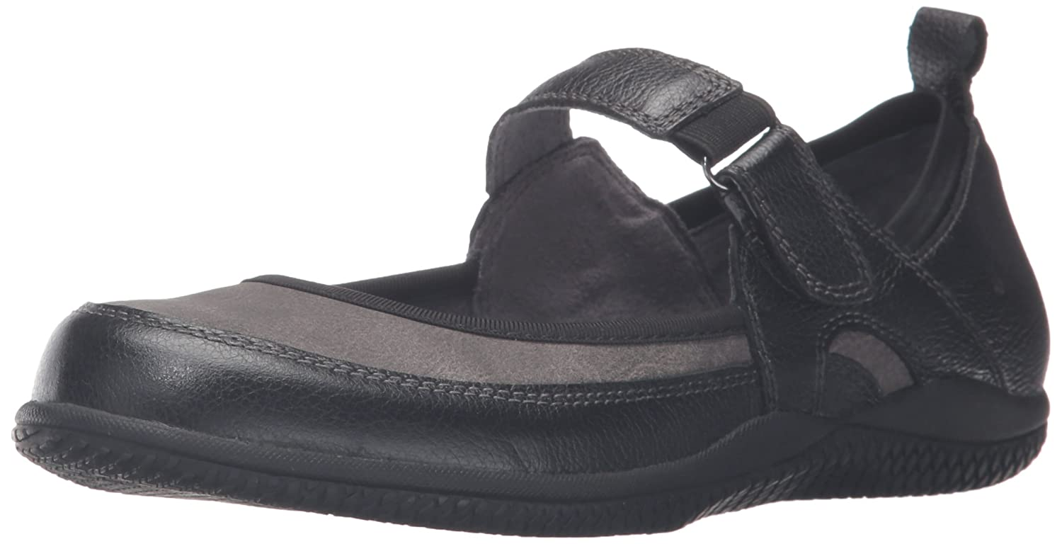 SoftWalk Women's Haddley Mary Jane Flat B019RJOWVW 11 B(M) US|Black/Dark Grey