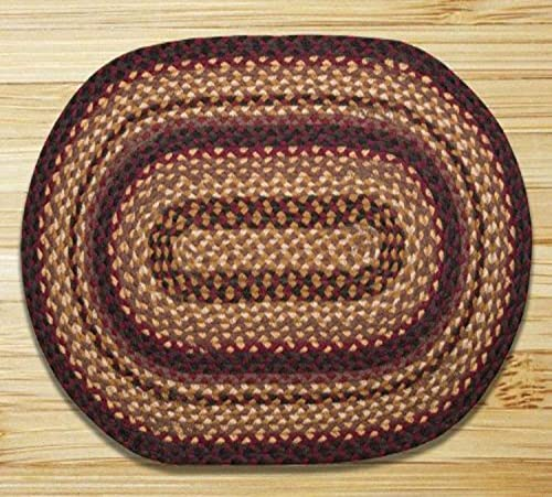 Earth Rugs Oval Rug, 5 x 8 , Black Cherry Chocolate Cream