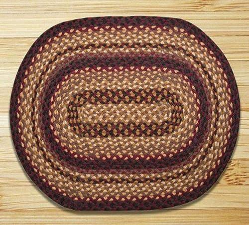Earth Rugs Oval Rug, 5 x 8 , Black Cherry Chocolate Cream