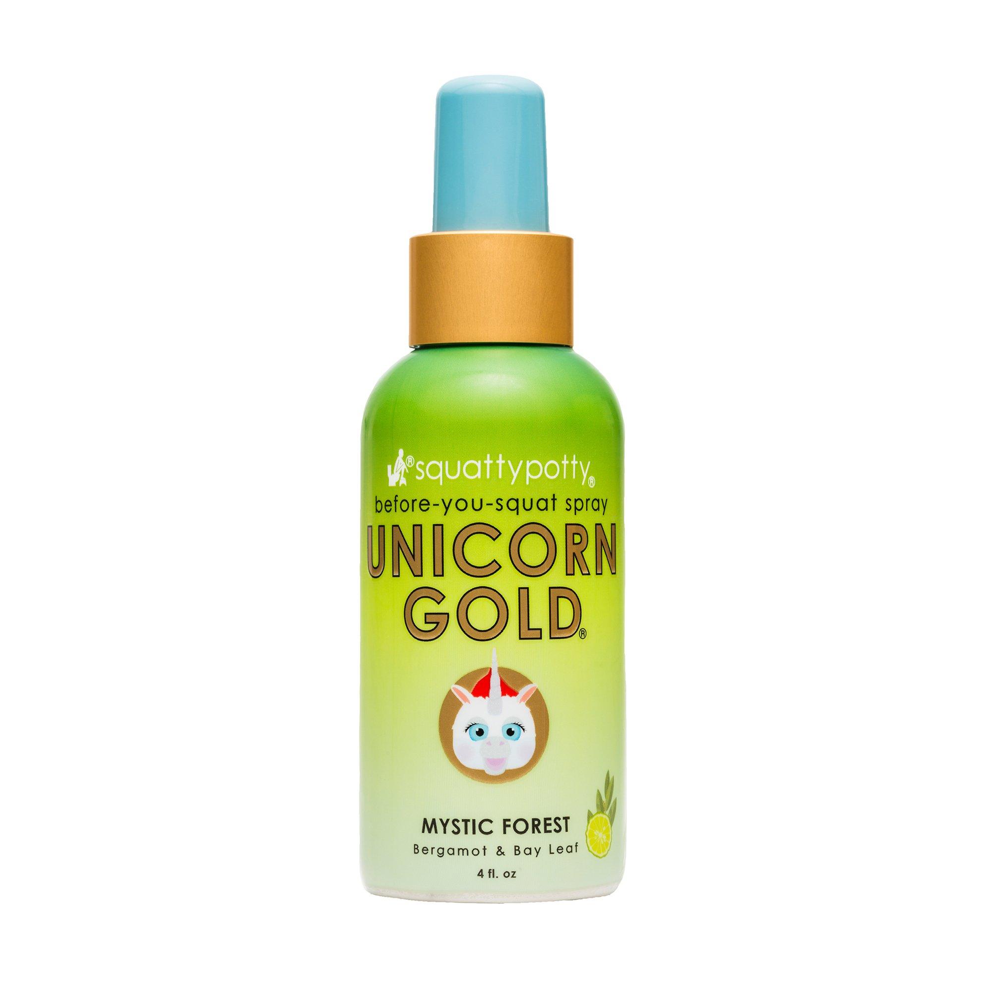 Amazon.com: 4 FL OZ. Squatty Potty Unicorn Gold Toilet Spray, Fruity ...