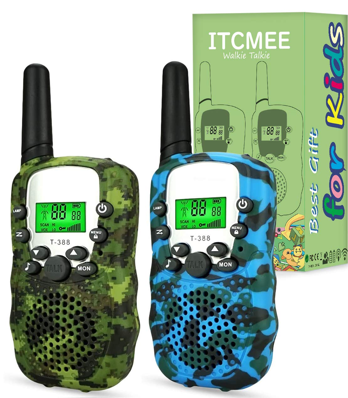 ITCMEE Walkie Talkies for Kids Upgraded Camouflage 22 Channels 2 Way Radio