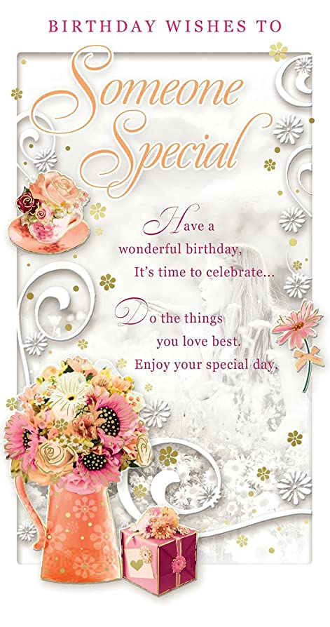 Someone Special Birthday Card Happy Birthday Flower Bouquet – Special Birthday Cards for Someone Special