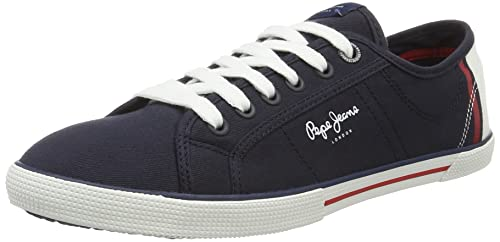 Pepe Jeans London - Zapatillas Mujer, Azul (Marine), 38 (EU)
