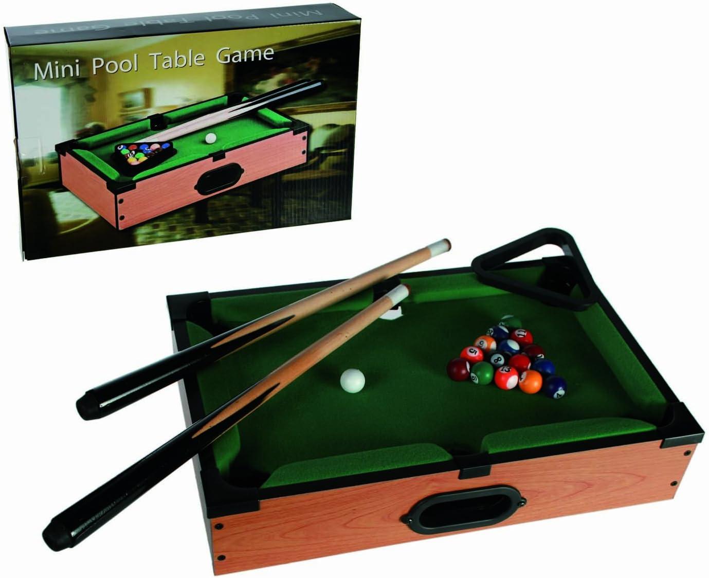 Amazon.com Mini Table de billard en bois de jeu  Idéal pour la ...