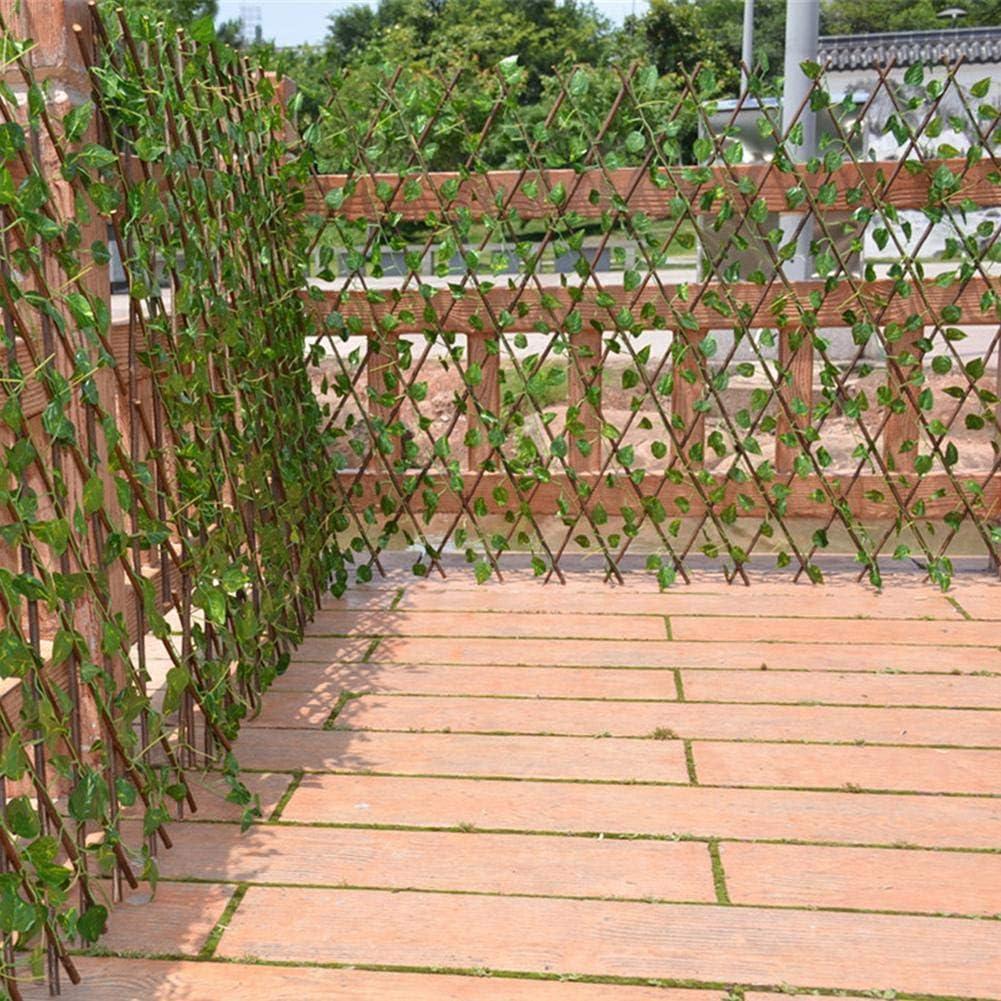 Bestlle Valla de Madera con Hojas de Hiedra Artificiales, Valla de jardín con protección UV, Pantalla de privacidad para Paredes de Invernadero para Interiores y Exteriores: Amazon.es: Hogar