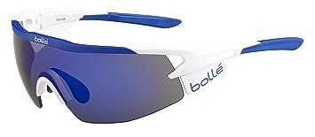 Bollé Aeromax Gafas de sol, blanco/azul, M: Amazon.es ...