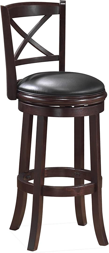 Amazon Com Boraam Georgia Bar Height Swivel Stool 29 Inch Cappuccino Furniture Decor