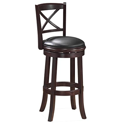 Boraam 48629 Georgia Bar Height Swivel Stool, 29-Inch, Cappuccino