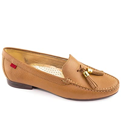 Women's Genuine Leather Made in Brazil Wall Street Tassel Loafer Marc Joseph NY Fashion Shoes | Loafers & Slip-Ons