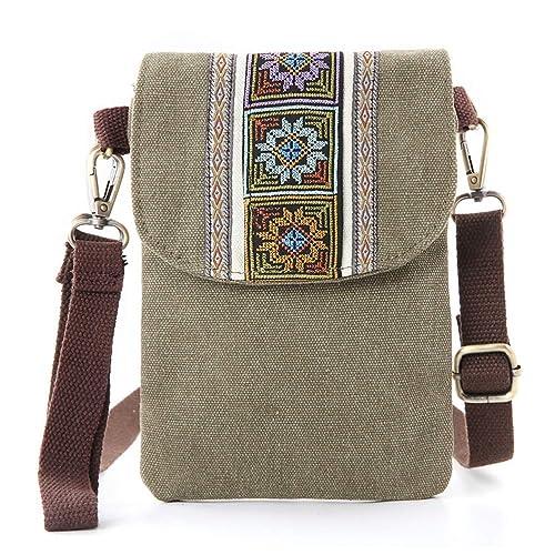 Amazon.com: Bolso bandolera de lona con bordado vintage ...