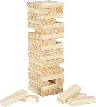 HEY! PLAY! Mesa de Madera Tabla de apilamiento Juego: Amazon.es: Juguetes y juegos