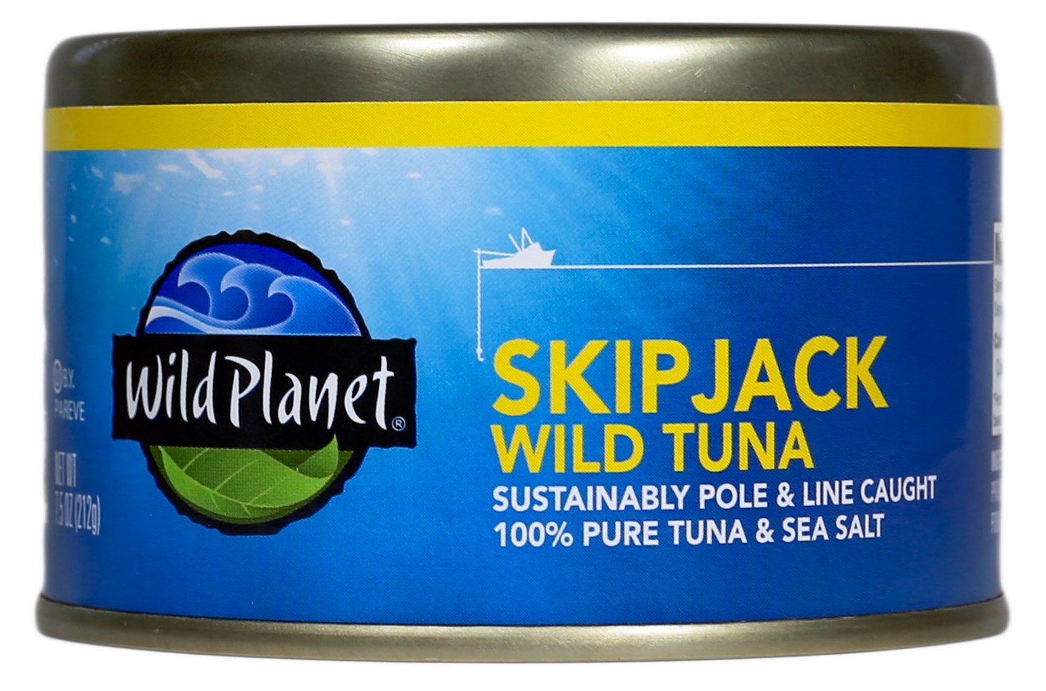 Wild Planet, Skipjack Light Tuna, 7.5 Ounce (Pack of 12) by Wild Planet