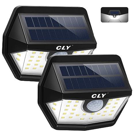 LED Solar Leuchte Aussen Lampe Strahler Solarlampe Bewegungsmelder Wandleuchte