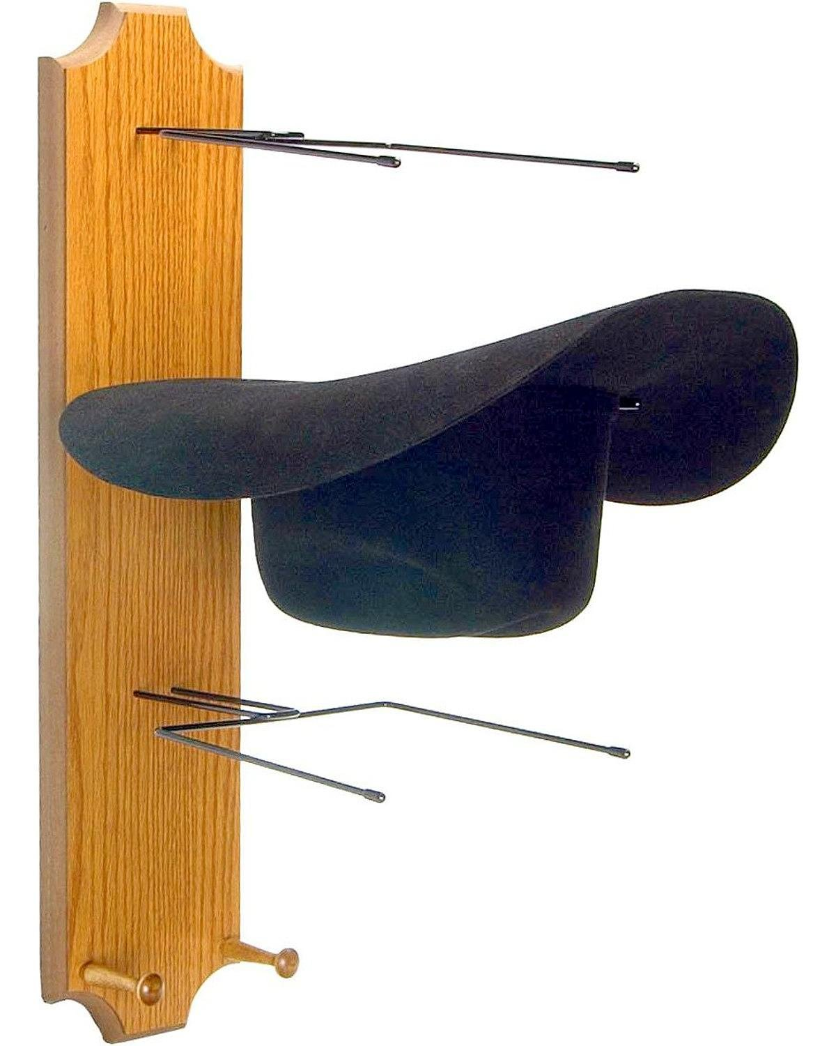 WesternWear Running D Unisex Wooden Triple Hat Rack Assorted One Size Running D Products Inc. 51848wrs