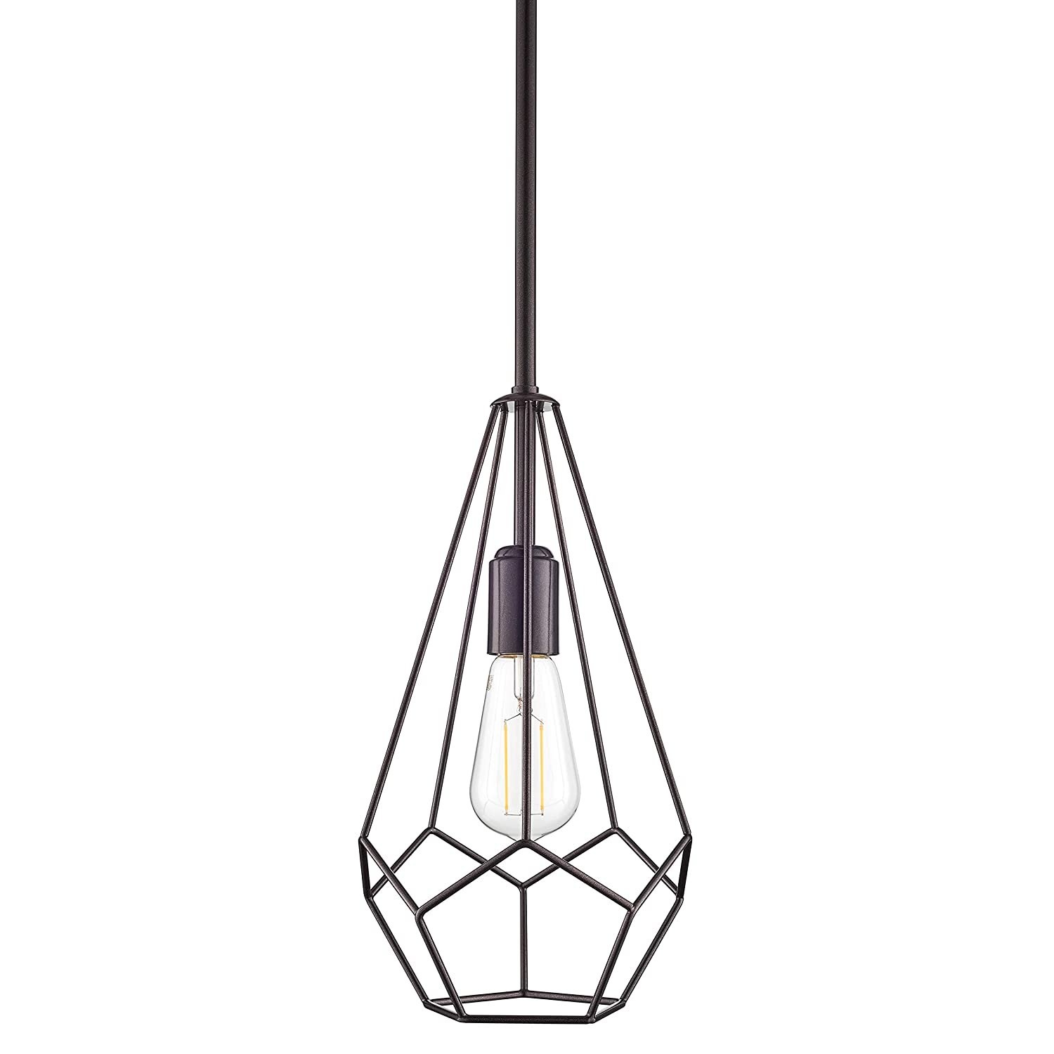 Disciplined Industrial Vintage Iron Cage Hanging Ceiling Pendant Light Holder Lamp Shade New Buy One Give One Lights & Lighting Lamp Covers & Shades