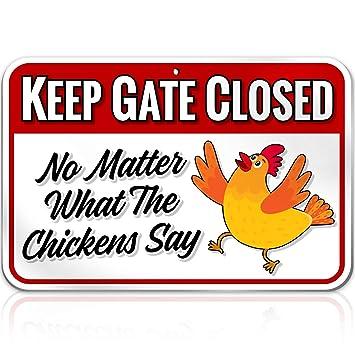 Amazon.com: Carteles de pollo: Jardín y Exteriores