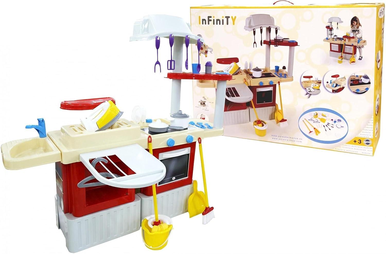 Polesie Kochen 42309 Küche Infinity mit Wäschebox – Kochen Polesie und Spielen Spielzeug 7e0bde