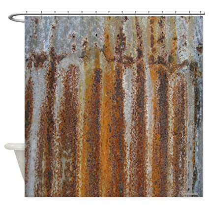 Image Unavailable Not Available For Color CafePress Rusty Tin Decorative Fabric Shower Curtain