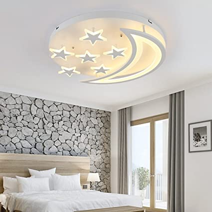 Ceiling Lights Symbol Of The Brand Moon And Star Modern Led Ceiling Lights Iron Acrylic White Led Ceiling Lamp For Bedroom Childrens Room Table Lamp Home Lighting Lights & Lighting