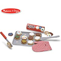Melissa & Doug Slice-and-Bake Wooden Cookie Play Food Set, Pretend Play,, 28 Pieces, 26.67 cm H x 34.29 cm W x 8.255 cm L