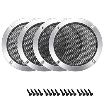 uxcell 8 inches Speaker Grill Mesh Decorative Circle Woofer Guard Protector Cover Audio Accessories White