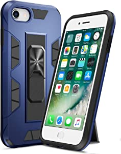 """Ruky iPhone 7 8 Case, iPhone SE 2020 Case, iPhone 6 6s Stand Case with Kickstand Military Grade Fit for Magnetic Car Mount Anti Scratch Dual Layer Rugged Cover for iPhone 6/6s/7/8/SE 2020 4.7"""", Blue"""