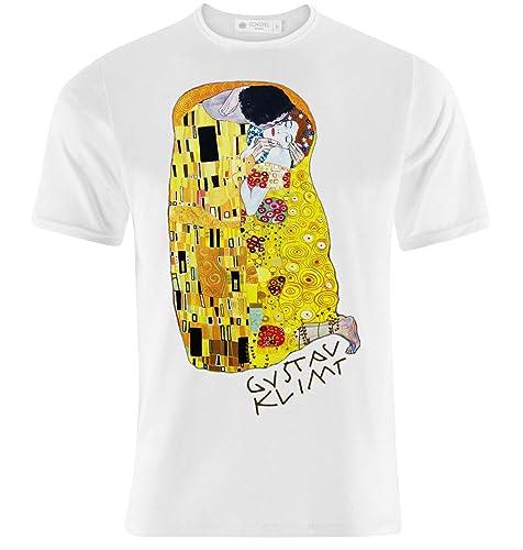 watch ef56d ac891 T-shirt uomo con stampa arte quadro dettaglio Il Bacio di Klimt!