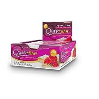 Quest Nutrition Proteína Bar, White Chocolate Raspberry, 12 Piezas