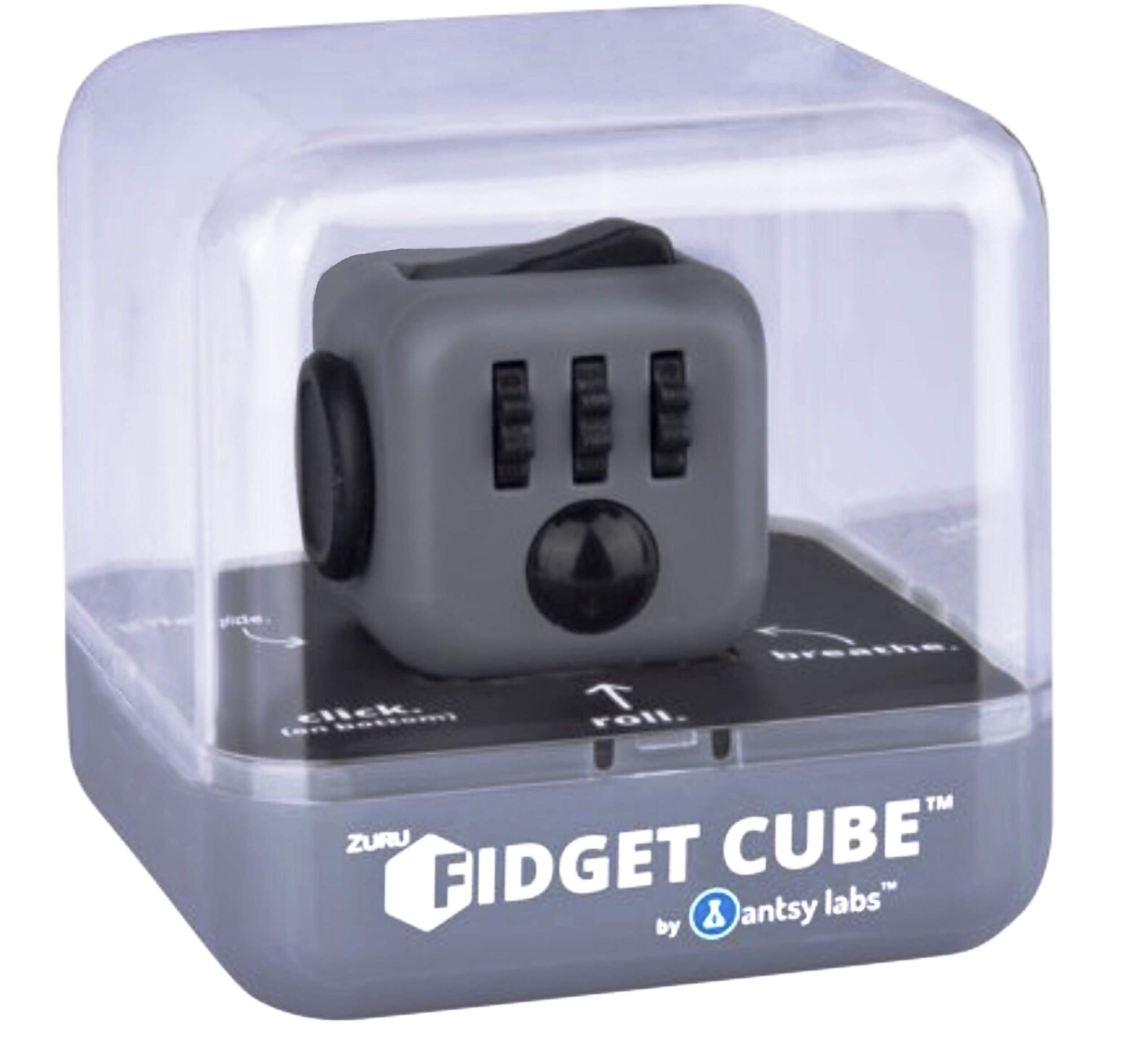 Zuru Fidget Cube by Antsy Labs - Graphite Grey Fidget Cube with Black Accents by ZURU