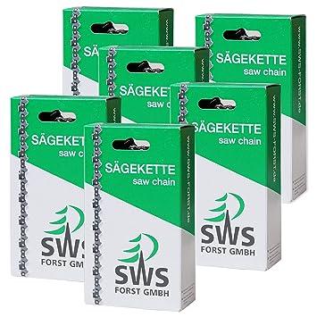 6 cadenas de sierra SWS Forst, diente de corte largo 3/8, 1,3 mm ...
