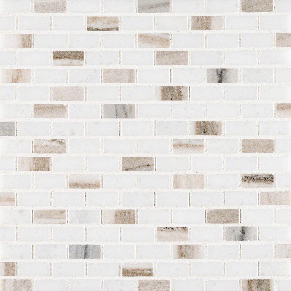 Palisandro Mini Brick Polished Marble Mosaic Tile by Marble 'n things